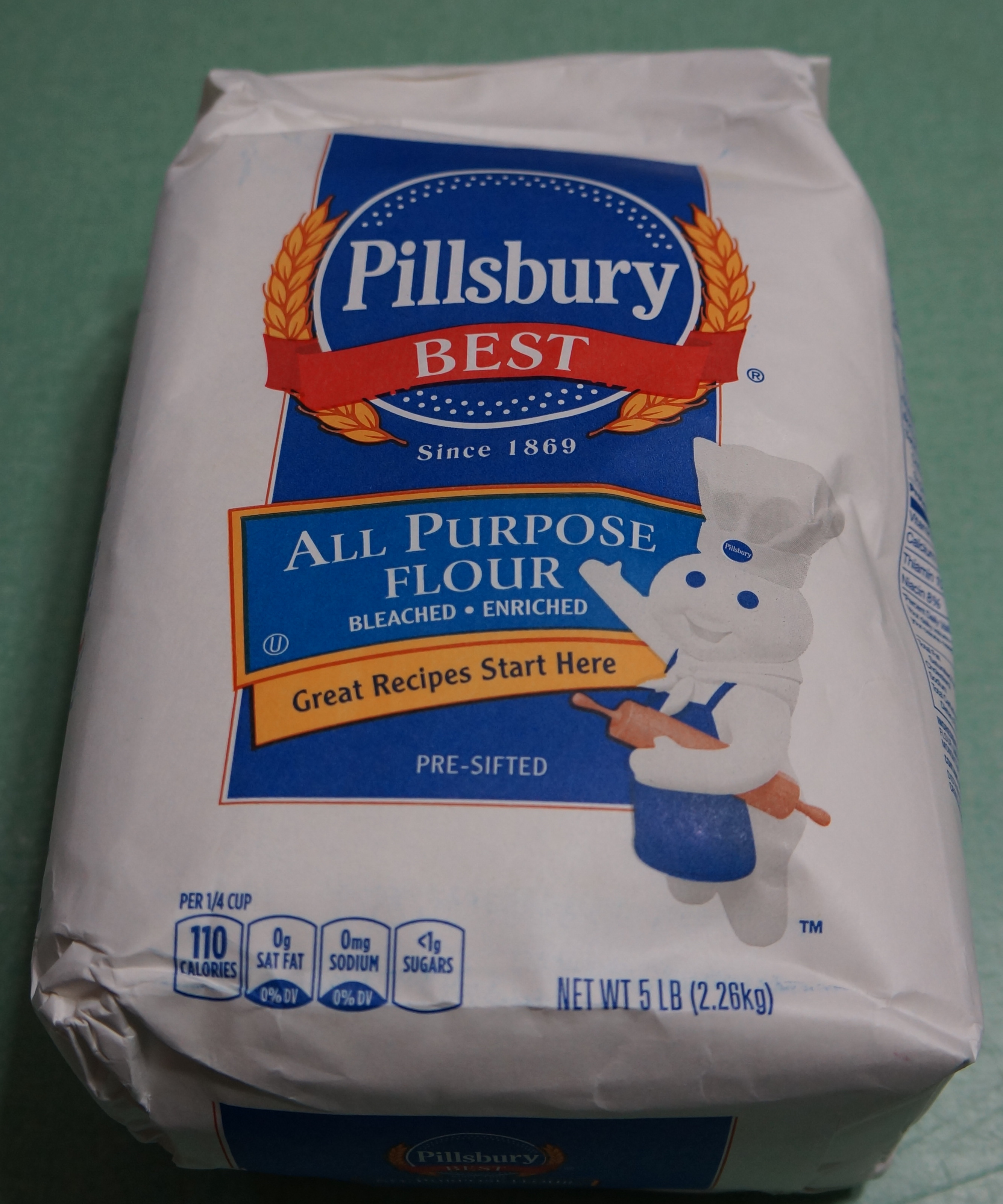 Weight of all purpose flour